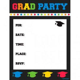 Grad Party Postcard Invitations 8ct