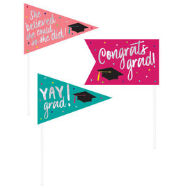 Yay Grad Foil Pennant Picks