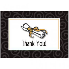 Graduation Day Folded Thank You Cards w/ Add-On 50ct