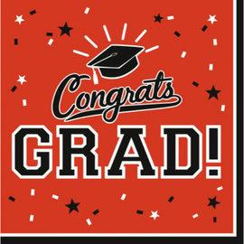 Orange Congrats Grad Lunch Napkins 36ct