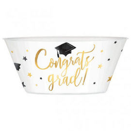Metallic Gold Graduation Plastic Serving Bowl