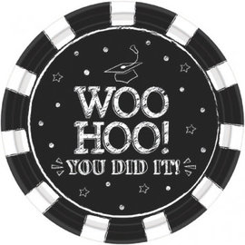 "Hooray Grad Round Plates, 7""-18ct"