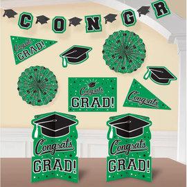 Grad Room Decorating Kit - Green 10pc
