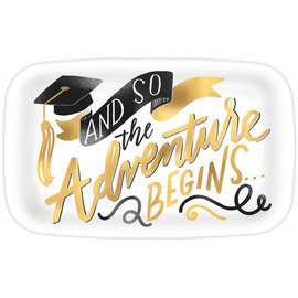 Grad Rectangular Coupe Platter w/ Hot Stamp