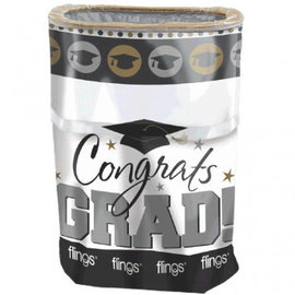 Grad Flings® Bin - Black, Silver & Gold