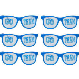 Blue Go Team Printed Glasses, 12ct