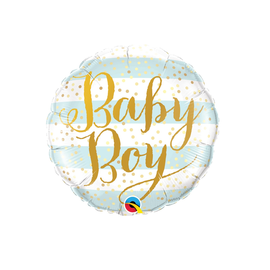 "Baby Boy-Blue Stripes, 18""  (#102)"