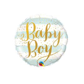 """Baby Boy-Blue Stripes, 18"""""""