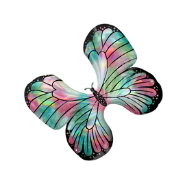 """30"""" Teal Pink Butterfly (#46)"""