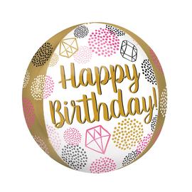 "Happy Birthday Gems Orbz, 16"" (#32)"
