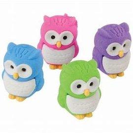 Owl Erasers, 12ct