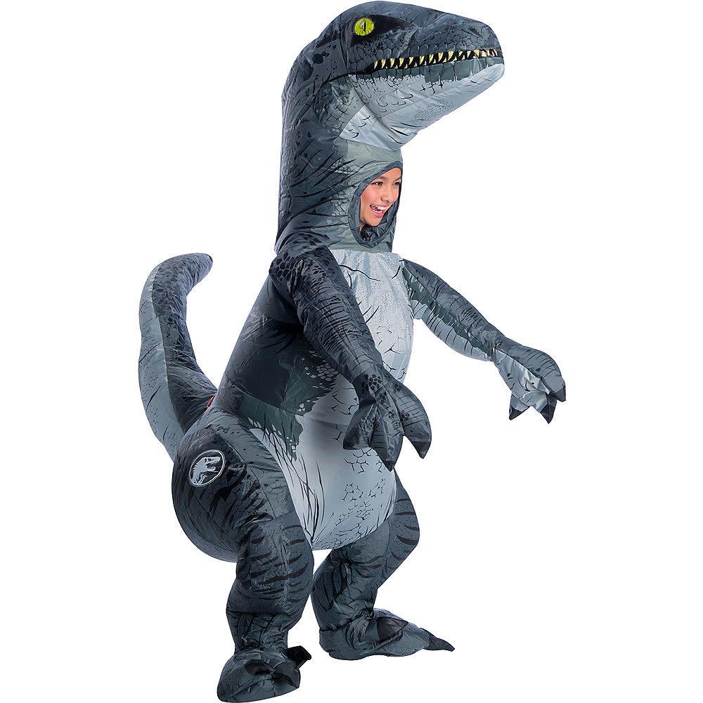 Blue Velociraptor Dinosaur Figure Toy Christmas Gift for Boys Kid Jurassic World