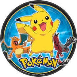 """Pikachu and Friends 9"""" Plates, 8ct"""