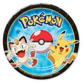"""Pikachu and Friends 7"""" Plates, 8ct"""