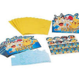 Pokemon Postcard Invitations, 8ct