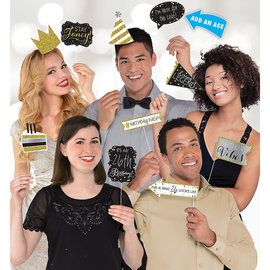 Sparkling Celebration Birthday Photo Booth Props -13ct