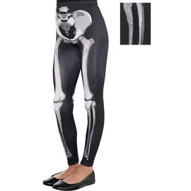 Black and Bone Skeleton  Leggings- Child Standard