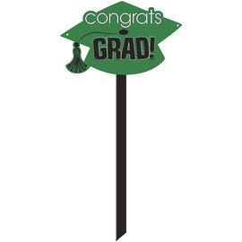 Congrats Grad Yard Sign- Green