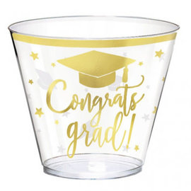 Congrats Grad Plastic Tumbler Hot Stamp, 9 oz. -30ct