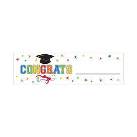 Personalized Roll-Up Congrats Grad Banner