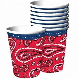 Bandana & Blue Jeans 9oz. Paper Cups-8ct