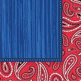 Bandana & Blue Jeans Lunch Napkins 16Ct.