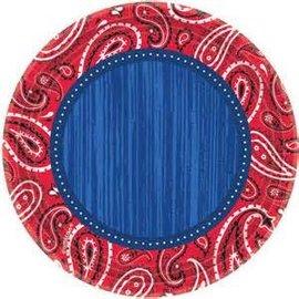 "Bandana & Blue Jeans 10.5"" Round Plate-8ct"