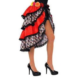 Tie-On Bustle - Adult Standard, Day of The Dead