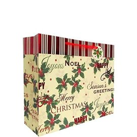 Traditional Holly Extra Large Gift Bag