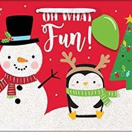 """Oh What Fun"" Christmas Medium Horizontal Bag, 7"" x 9"" x 4"""
