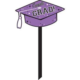 Purple Grad Yard Sign