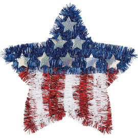 Patriotic Star Tinsel American Flag