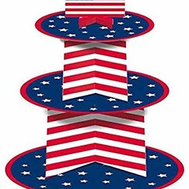 Patriotic American Flag Inspired Cupcake Stand