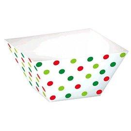 Christmas Square Polka Dot Bowls, 24ct