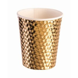 Gold 8 Oz. Cups  - 8 ct