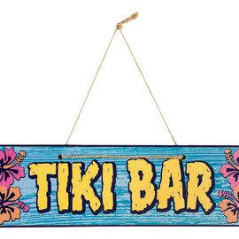 """Tiki Bar Plaque 17"""" x 3"""""""
