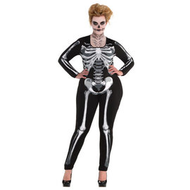 Adult Black and Bone Catsuit