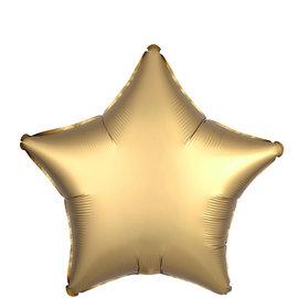 "Satin Luxe Gold Sateen Star, 19"""