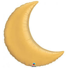 "Crescent Moon- Metallic Gold 35"""