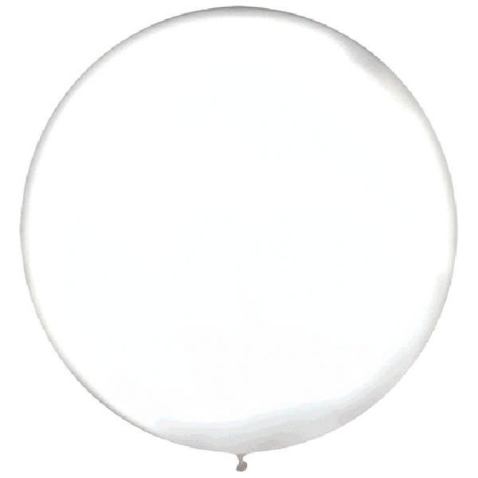 """24"""" Round Latex Balloons- Clear 4ct"""