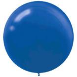 "24"" Round Latex Balloons-Bright Royal Blue 4ct"