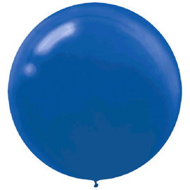 "24"" Round Latex Balloons-Bright Royal Blue 4ct"