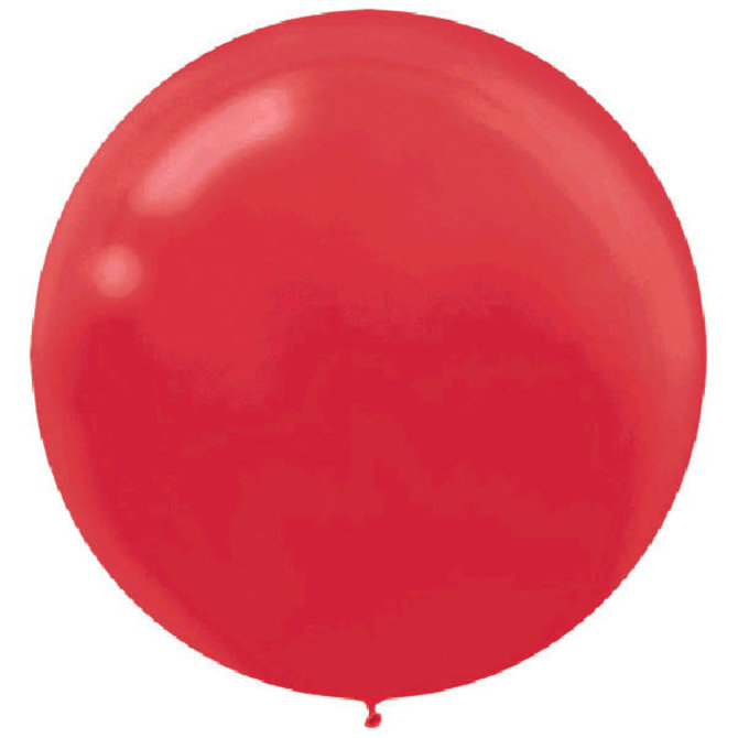 """24"""" Round Latex Balloons - Apple Red 4ct"""