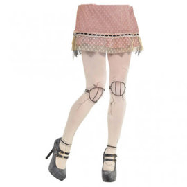 Creepy Doll Tights- Adult Standard