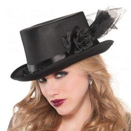 Embellished Black Top Hat