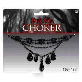 Gothic Black on Black Choker