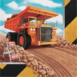Big Dig Construction Luncheon Napkins, 16ct