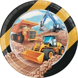 "Big Dig Construction 9"" Plates, 8ct"