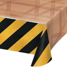 "Big Dig Construction Plastic Tablecover, 54"" x 102"""