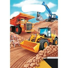 Big Dig Construction Loot Bags, 8ct